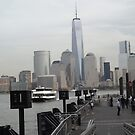 Waiting For a Ferry to Manhattan, Hudson River, Jersey City, New Jersey by lenspiro