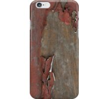 Peeling Red Paint on Old Wood iPhone Case/Skin