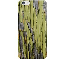 Peeling Green Paint on Weathered Wood iPhone Case/Skin