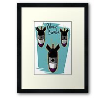 Platonic Bombs Framed Print
