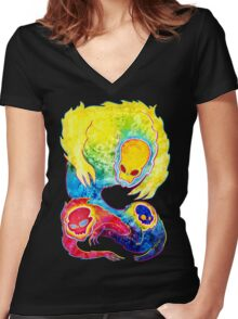 Infrared Psychedelic Poltergeist Women's Fitted V-Neck T-Shirt
