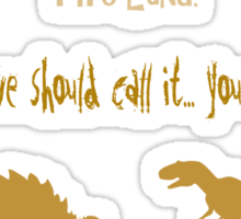 curse your sudden but inevitable betrayal, firefly, mustard Sticker
