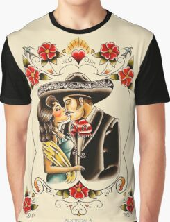 Mexican Couple Graphic T-Shirt