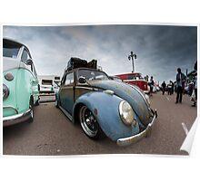 Slammed VW Beetle Poster