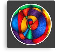 Fiesta Mandala - Full-Color Print w/grey bkground Canvas Print