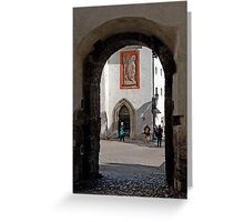 Archway To St. George's Chapel Greeting Card