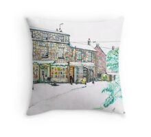 Broadway Snow Scene Throw Pillow