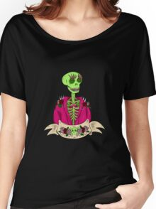 Spooky Stylish Skeleton Women's Relaxed Fit T-Shirt