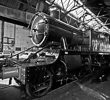 Steam Locomotive B&W by Simon Lawrence