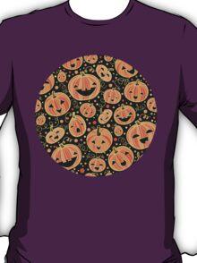 Fun Halloween pumpkins pattern T-Shirt