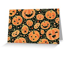 Fun Halloween pumpkins pattern Greeting Card