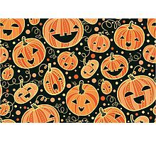 Fun Halloween pumpkins pattern Photographic Print