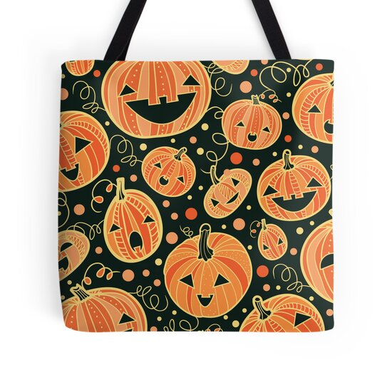 Fun Halloween pumpkins pattern by oksancia