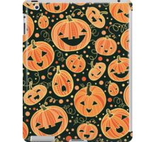 Fun Halloween pumpkins pattern iPad Case/Skin