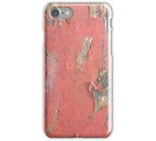 Dirty Peeling Red Paint iPhone Case/Skin
