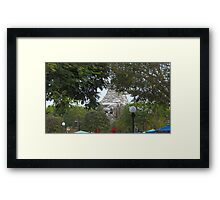 Mountain Through the Trees Framed Print