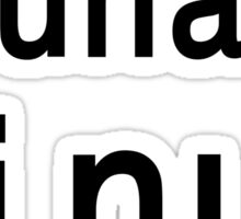 uname Linux - The only true answer - Black on White Design Sticker