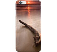 Driftwood at sunset iPhone Case/Skin