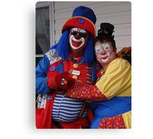 Mr and Mrs Clown Canvas Print
