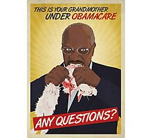 So many questions, Herman Cain Photographic Print
