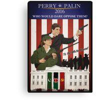 Perry/Palin 2016 Canvas Print