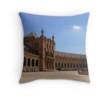 Sevilla Plaza de Espana Throw Pillow