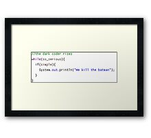 The Dark Coder Rises Framed Print