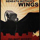 Secure beneath mother's wings by Bas van Oerle