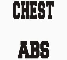 CHEST ABS White Shirt for Fitness Geeks One Piece - Short Sleeve