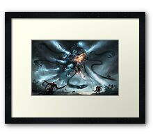 Mech Dragon Battle Framed Print