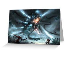 Mech Dragon Battle Greeting Card