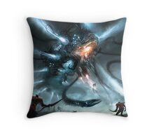 Mech Dragon Battle Throw Pillow