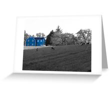 Blue House Greeting Card