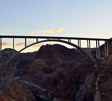 Hoover Dam Bypass Bridge by Eleu Tabares
