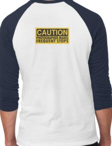 Caution, photographer on duty Men's Baseball ¾ T-Shirt