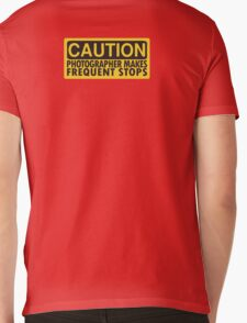 Caution, photographer on duty Mens V-Neck T-Shirt