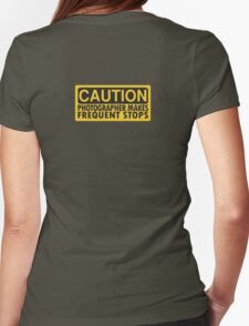 Caution, photographer on duty Womens Fitted T-Shirt
