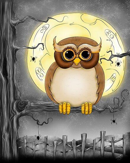 Happy Haunting Halloween Hoot by Concetta Kilmer