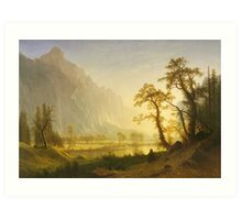 Albert Bierstadt - Sunrise, Yosemite Valley 1870. Famous Paintings. Original Art Print