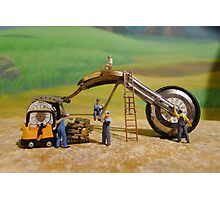 Diorama6 : Watch Parts Motorcycles Photographic Print