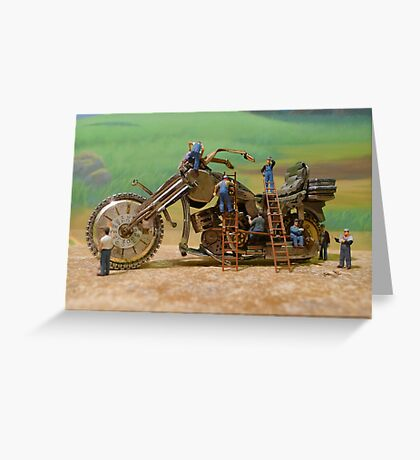 Diorama9 : Watch Parts Motorcycles Greeting Card