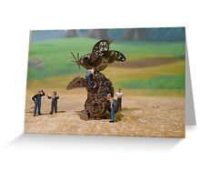 Diorama10 : Watch Parts Motorcycles Greeting Card