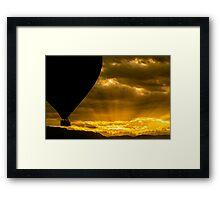 Golden Sky Balloon Drive Framed Print