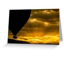 Golden Sky Balloon Drive Greeting Card