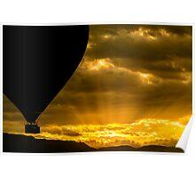 Golden Sky Balloon Drive Poster