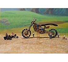 Diorama11 : Watch Parts Motorcycles Photographic Print