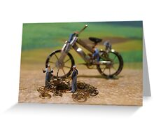 Diorama14 : Watch Parts Motorcycles Greeting Card