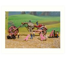 Diorama16 : Watch Parts Motorcycles Art Print