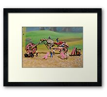 Diorama16 : Watch Parts Motorcycles Framed Print
