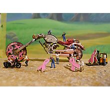 Diorama16 : Watch Parts Motorcycles Photographic Print